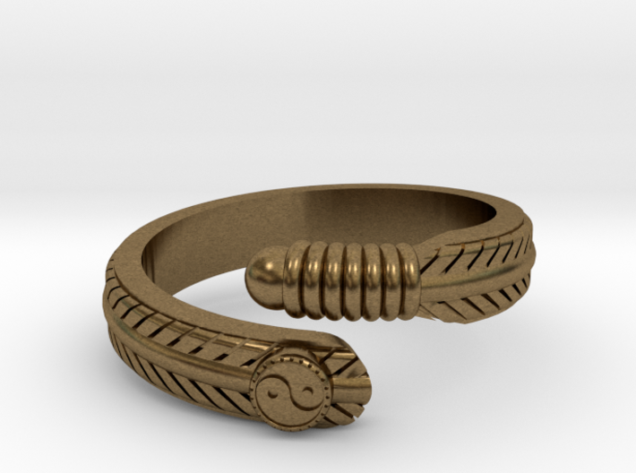 Feather ring 3d printed