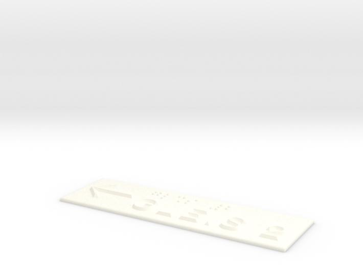GLEIS 2 mit Pfeil nach links 3d printed