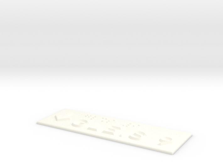 GLEIS 9 mit Pfeil nach unten 3d printed