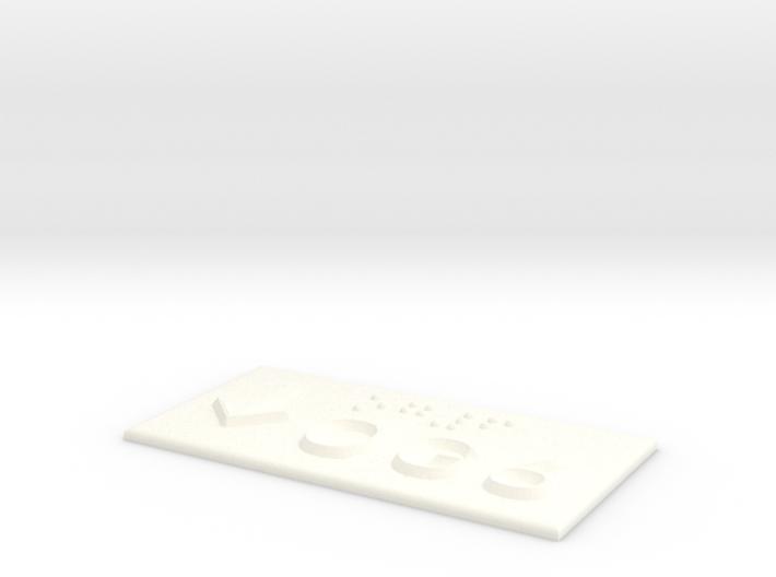 OG 6 mit Pfeil nach unten 3d printed
