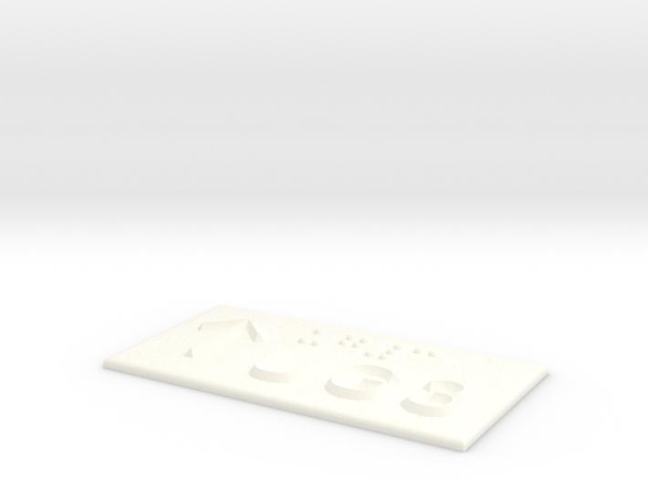 UG 3 mit Pfeil nach oben 3d printed
