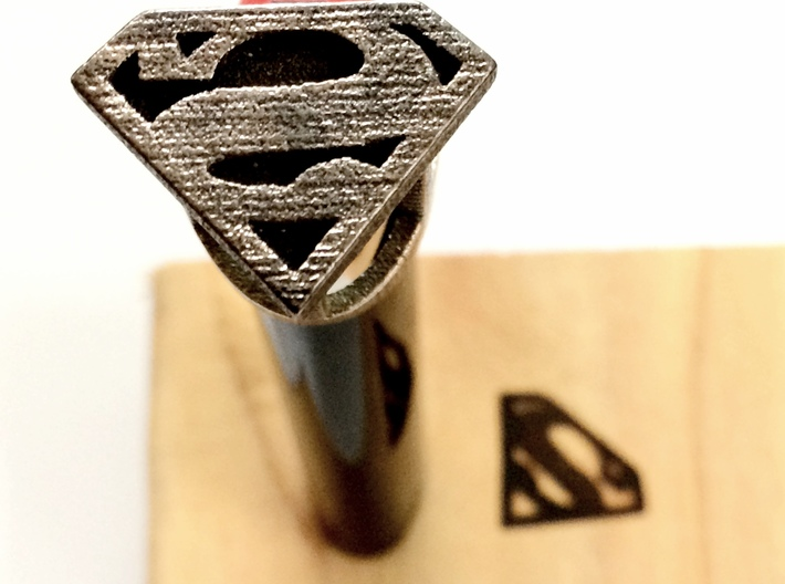 Superman Bic Branding Iron 3d printed