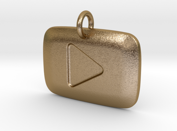 YouTube Play Button Pendant 3d printed