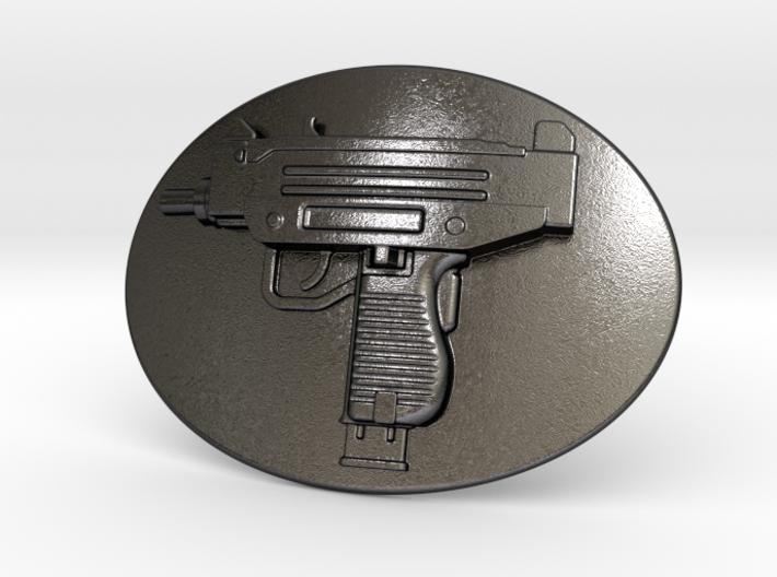 Mini Uzi Belt Buckle 3d printed