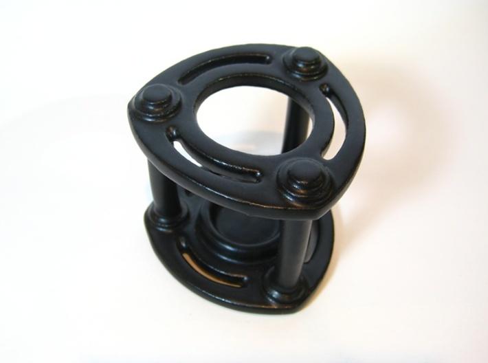 Isolator Candle Holder 3d printed Satin Black Ceramic