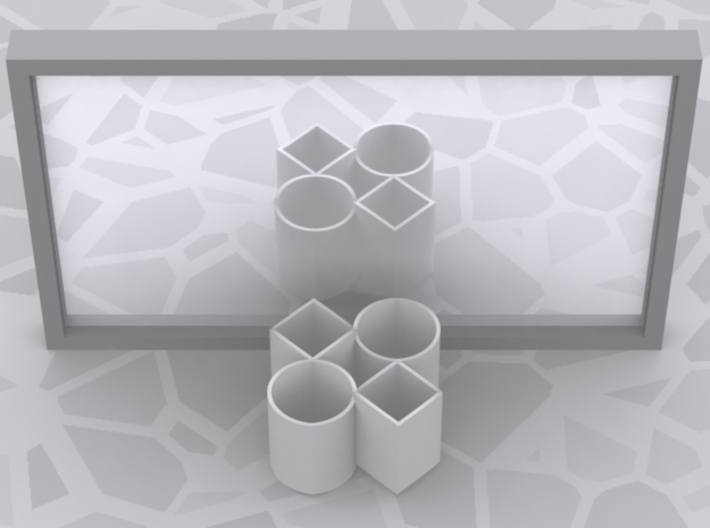 Improved Ambiguous Cylinder Illusion (Layout 5) 3d printed Computer-generated image