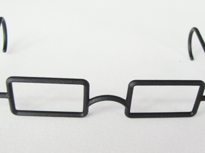 "Mrs. Beasley Glasses for 21"" Doll 3d printed Black Rough"