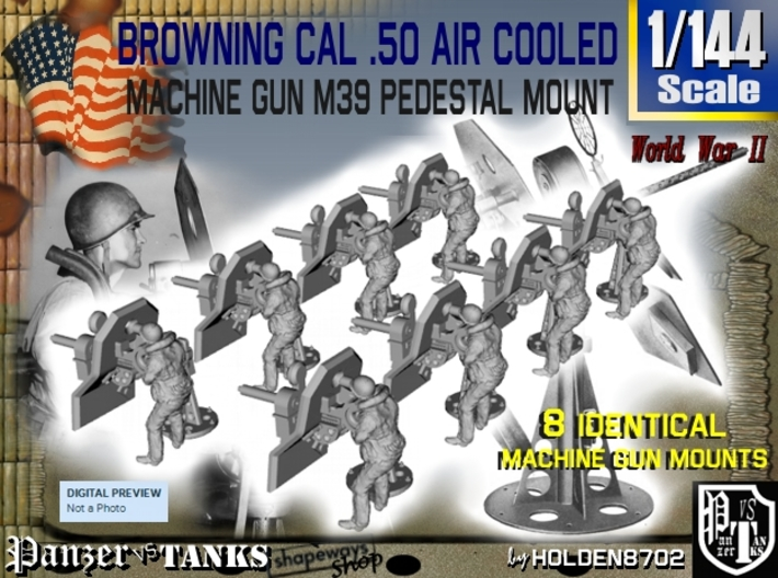 1-144 M2 Air Cooled M2 MG Mount Set2 3d printed