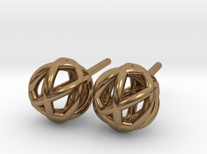 Woven Globe Earrings 3d printed