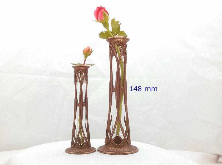 Bronze Metal Bud Vase - 5.8 in (148 mm) 3d printed Bud Vase - 148 mm (on right)