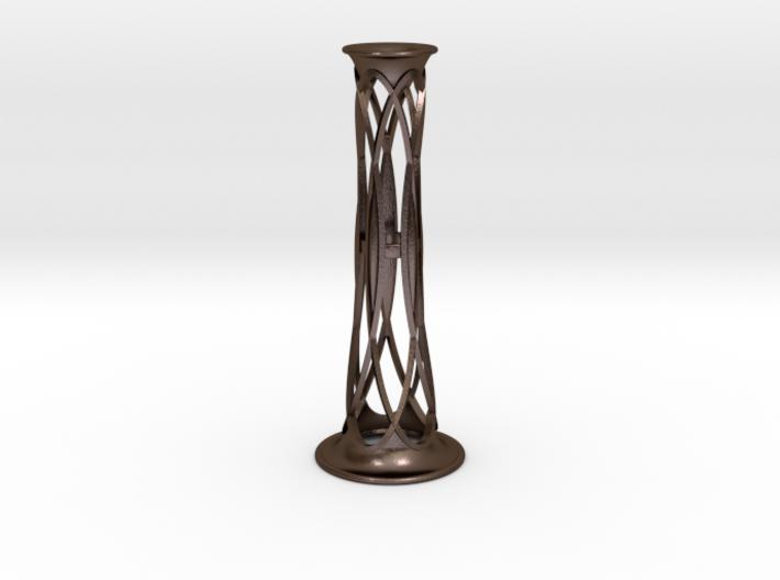 Bronze Metal Bud Vase - 5.8 in (148 mm) 3d printed