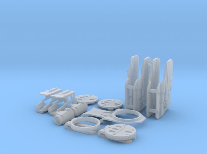 1:6 6 Sec mount & holster Full Kit 3d printed