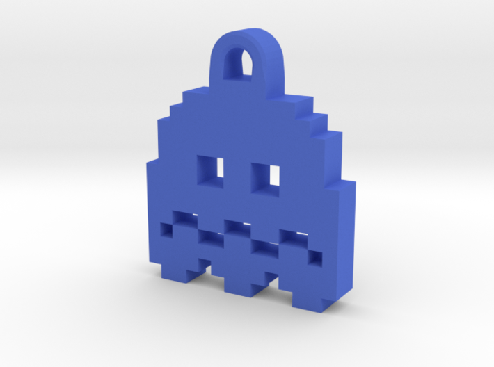 Pac Man Ghost 8-bit Earring 2 (afraid) 3d printed