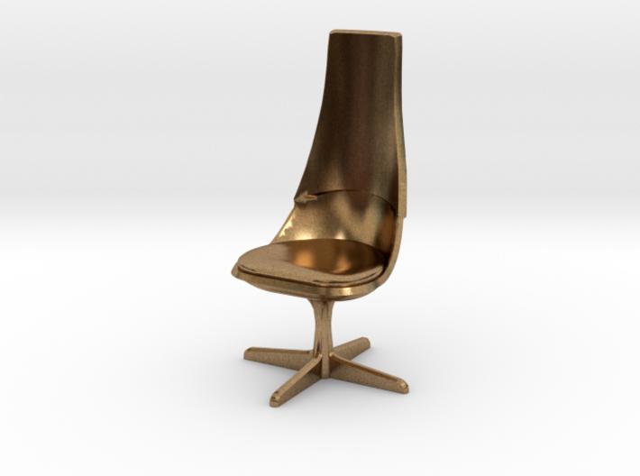 TOS 2.0 Chair - 1/32 Bridge Model 3d printed Raw Brass