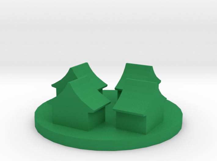 Game Piece, Ancient Chinese Village Token 3d printed