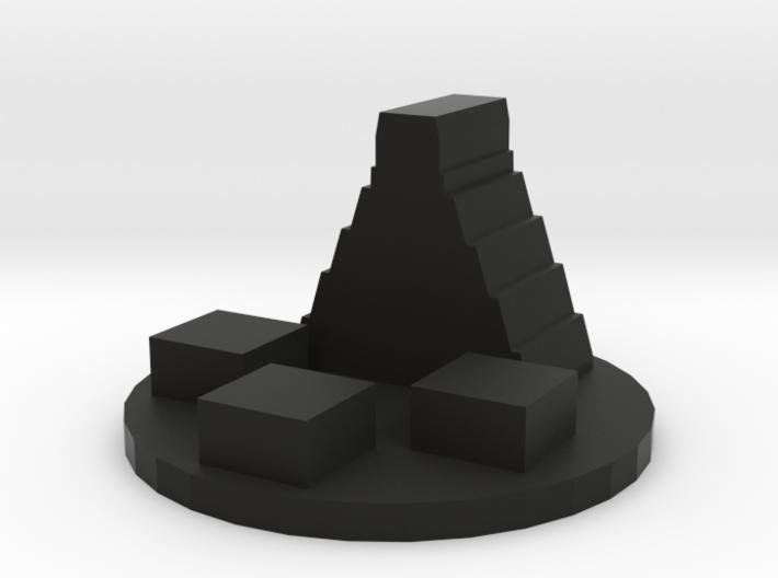 Game Piece, Ancient Mayan City Token 3d printed