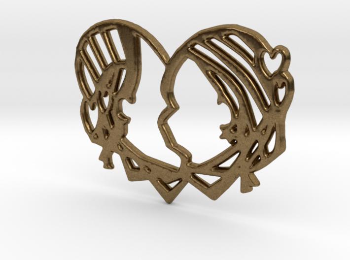 'Just Kiss me' 3d printed