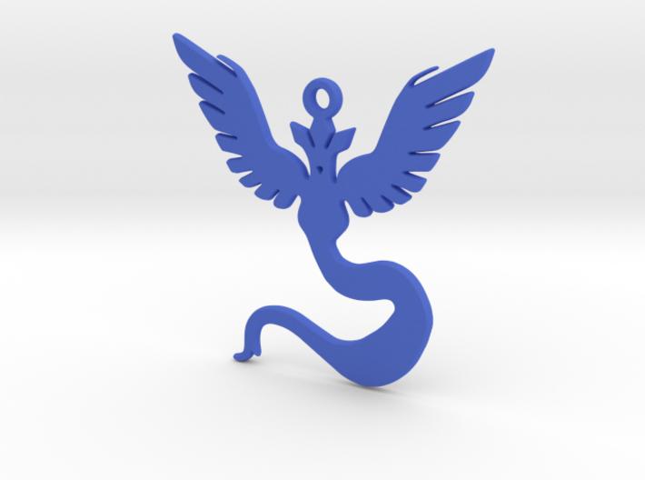 POKEMON Team Mystic (Blue) Pendant 3d printed Colour