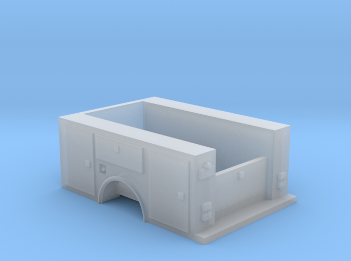 Utility Pick Up Truck Bed With Tailgate 1-87 HO Sc 3d printed