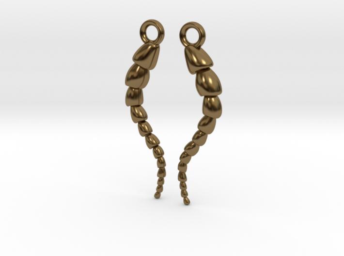 Leptohalysis Benthic Foraminiferan Earrings 3d printed