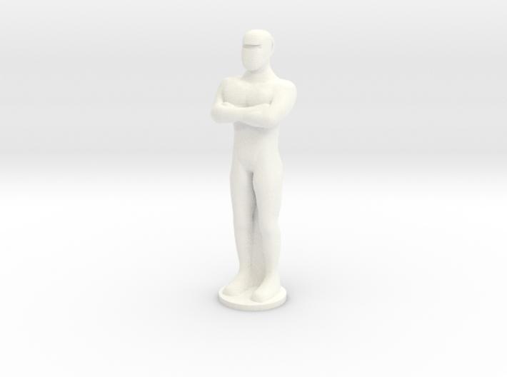 Humanoid Robot Gort Likeness Keychain 2 3d printed