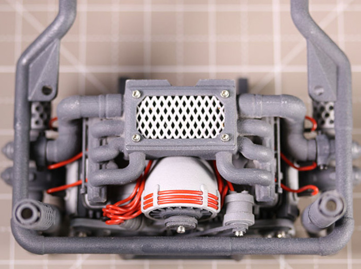 Sand Scorcher Fan Cowling 3d printed The Twin Turbo Flat Six Engine Kit (other parts sold separately)