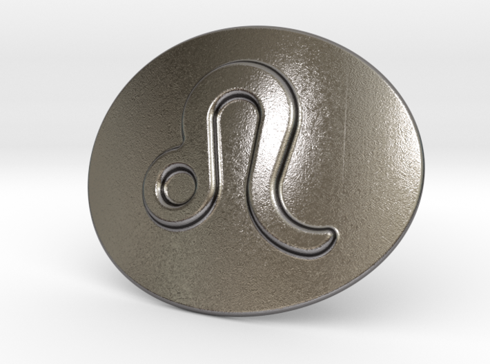 Leo Belt Buckle 3d printed