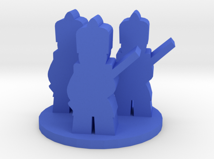 Game Piece, Colonial French Unit 3d printed