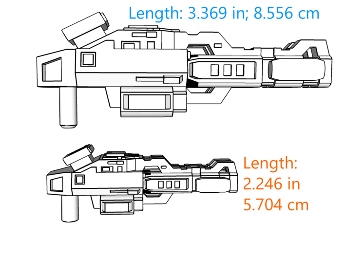 """""""Lockout"""" Carbine RESIZED 5mm post 3d printed"""