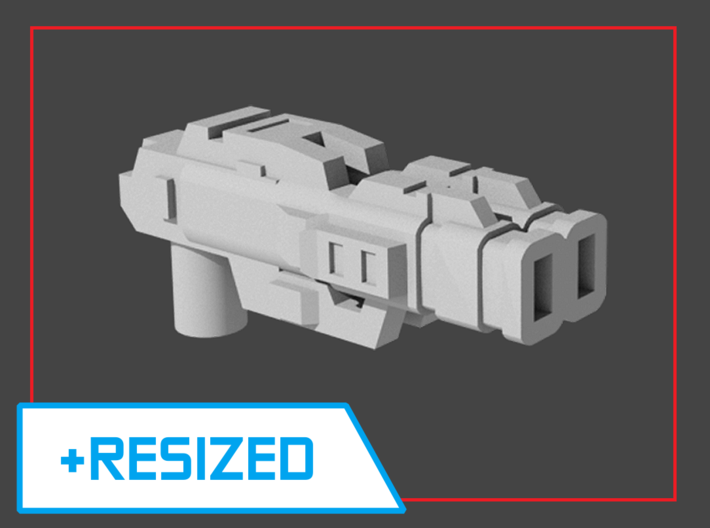 """Lockout"" Pistol RESIZED 5mm post 3d printed"