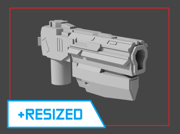 """Sentinel"" Pistol RESIZED 5mm post 3d printed"