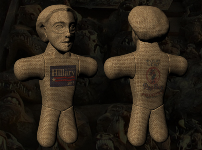 Hillary Clinton Voodoo Doll - Small 3d printed Hillary Clinton Voodoo Doll - Small