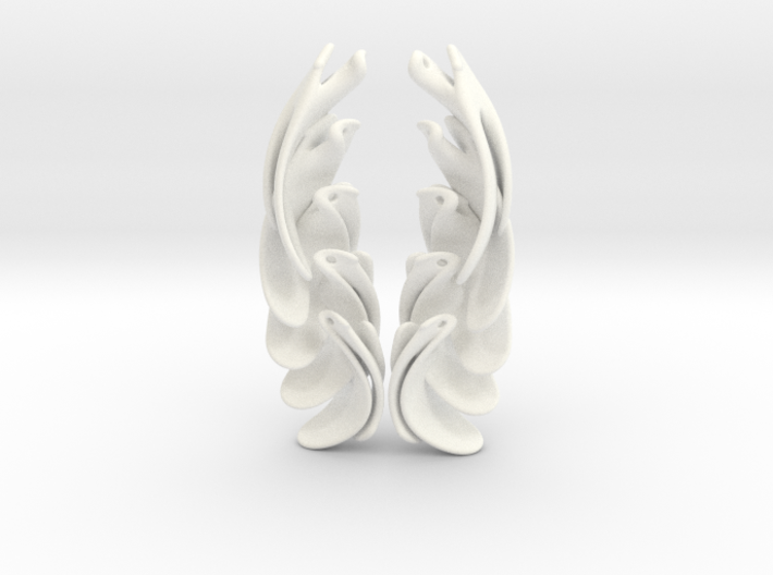 CascadingArrayEarrings 3d printed