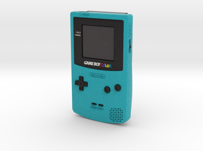 1:6 Nintendo Game Boy Color (Teal) 3d printed