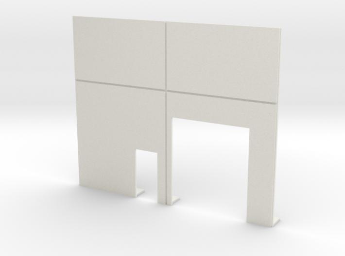 Roll Door & Personnel Door 3d printed