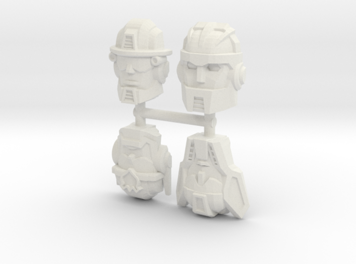 Rescue Bots Faceplate Four Pack #1 3d printed