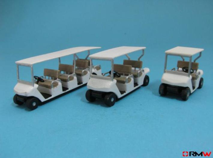 HO/1:87 Golf cart, kit 3d printed [en]painted and assembled