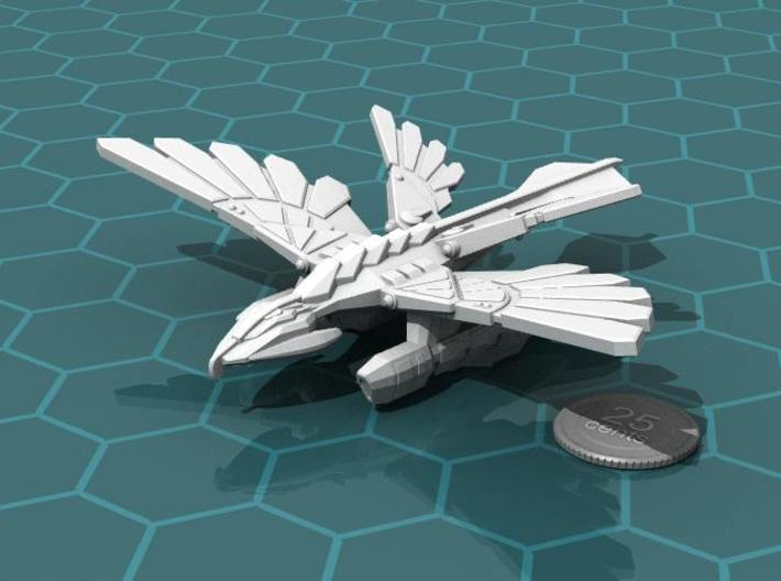 Murustan Drake 3d printed Render of the model, with a virtual quarter for scale.