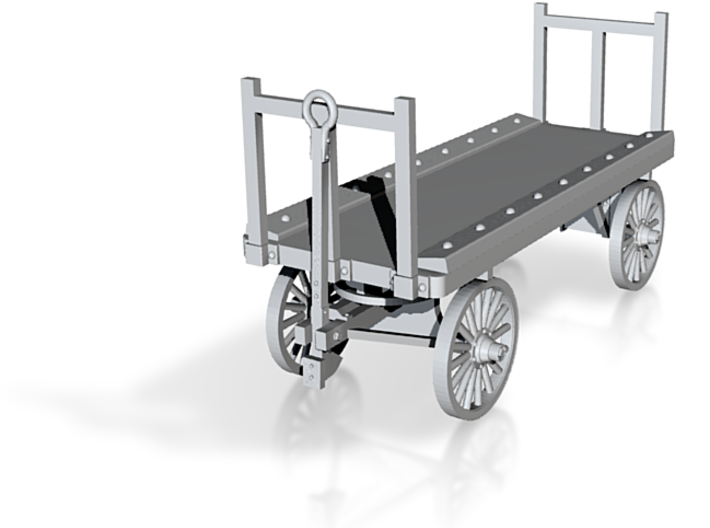S Scale baggage Cart- test, not finished yet 3d printed