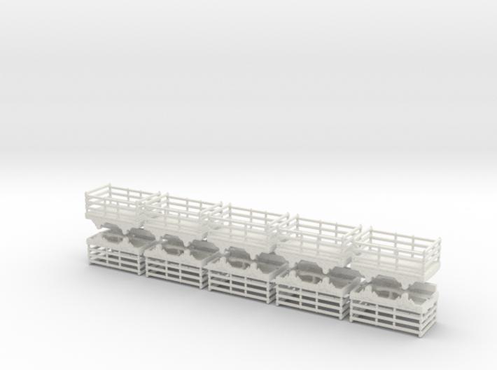 009 wood slate wagon 10 pack 3d printed