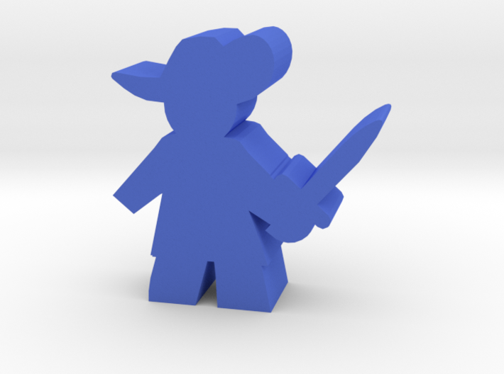 Game Piece, Musketeer, sword ready 3d printed