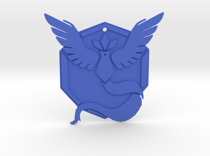 Team Mystic Badge 4in 3d printed