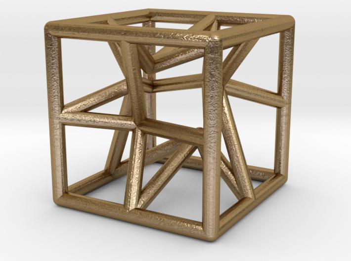 Star cube pendant 3d printed