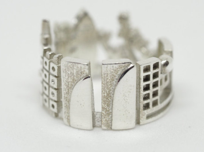 Tokyo Cityscape - Skyline Ring 3d printed