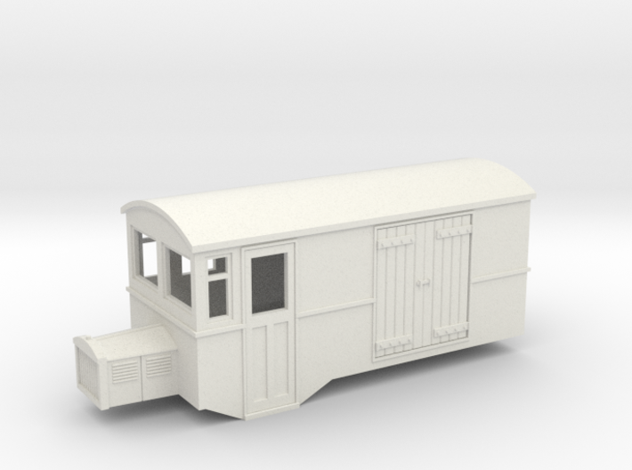 Hoe 009 railbus 42 goods version 3d printed