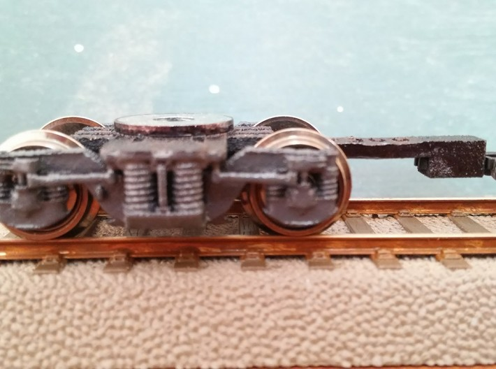 Bogie SGP300 3d printed Ready model, with wheels, bearings and couplings fitted
