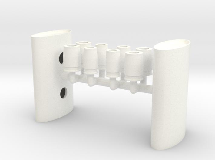 1/12 Eliptical Body Turbo Muffler 3d printed