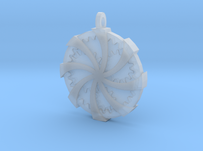 Wrapped Cog Pendant 3d printed