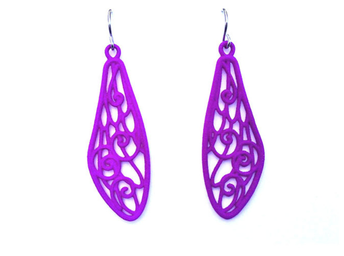 Smaller Fairytale Wing Earrings - nylon 3d printed
