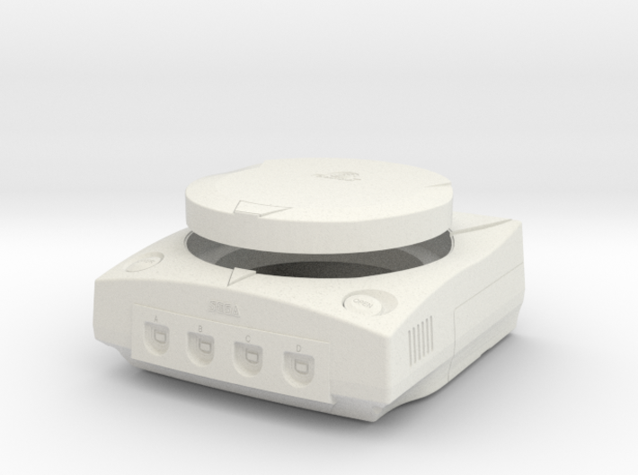 1:6 Sega Dreamcast (White) 3d printed